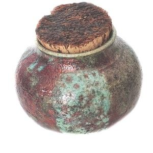 Other - Textured Pottery Potpourri Jar With Natural Cork